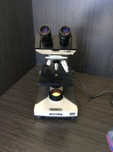 Olympus Ch 2 Cht Binocular Microscope W 3 Objectives tested Please Read