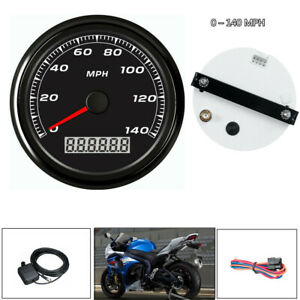 85mm 3 2 5 Gps 140mph Speedometer Gauge Device Car Motorcycle Backlight cable