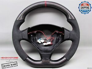 Ferrari F550 Maranello Barchetta 8 Dark Red Alcantara Flat Carbon Steering Wheel