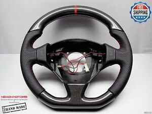 Ferrari F550 Maranello Barchetta 8 Red Flat Perfrate Thick Carbon Steering Wheel