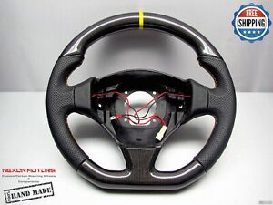 Ferrari F550 Maranello Barchetta 8 Yellow Perfo Flat Thick Carbon Steering Wheel