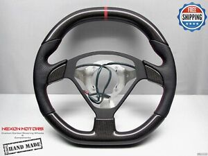 Ferrari 575 Maranello Superamerica 8mm Red Flat Top Bottom Carbon Steering Wheel
