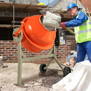 Electric 2 1 5cuft Concrete Cement Mixer Barrow Machine Mixing Mortar Portable