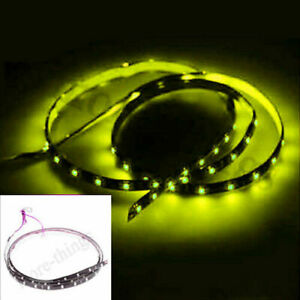 Yellow Waterproof 60 Smd Led Car Van Flexible 120cm Strip Light Lamp Bulb12v New