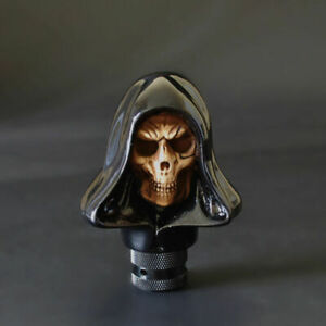 Car Black Manual Transmission Stick Gear Shift Knob Shifter Death Skull Head New