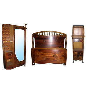C 1900 Art Nouveau Bedroom Suite By Louis Majorelle France 3 Pc 6672