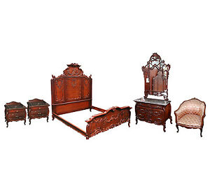 Antique French Bedroom Suite With Cherubs 5042