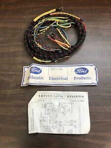 1939 Ford W 2 Brush Generator Dash Cowl Wiring Harness 91a 14401 d Nors 1019