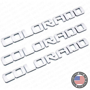 3x For Chevy Colorado Fender Tailgate Badge Logo Emblem Truck Oem Chrome Sport