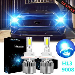 Led For Mustang 2005 2012 Headlight Kit H13 8000k Blue Cree Bulbs High low Beam