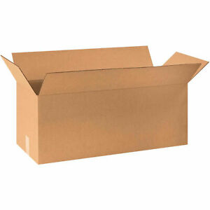 30 X 12 X 12 Long Cardboard Corrugated Boxes 65 Lbs Capacity 200 ect 32