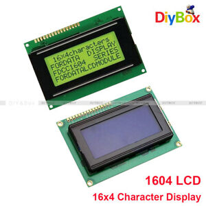 1604 Lcd 16x4 Character Display Module Lcm 5v Yellow blue Blacklight For Arduino