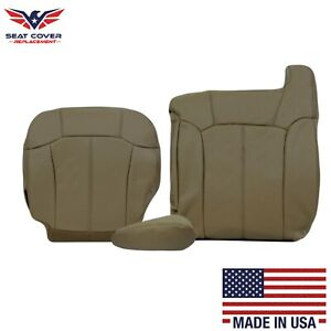 1999 2000 2001 2002 Chevy Silverado Synthetic Leather Seat Covers In Tan