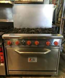 Cpg 6 Burner Range With Oven