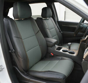 Jeep Grand Cherokee 2011 2020 Black Charcoal S Leather Custom Front Seat Covers