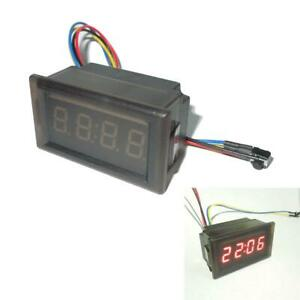 Red New Led Waterproof Vehicle Mounted Digital Clock Car Accessories Z