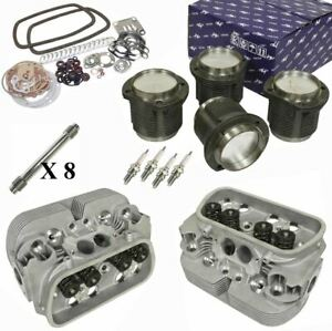 1776cc Air Cooled Vw Engine Rebuild Kit Top End Gtv 2 Heads And Pistons