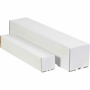 3 X 3 X 30 Square Mailing Tubes 200 ect 32 White Lot Of 25