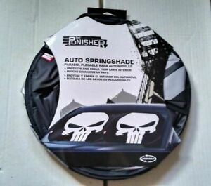 New Auto Punisher Windshield Sun Shade 28 5 X 31 5 Universal Two Pieces Skull