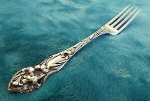 Lily By Watson Mechanics 7 Sterling Luncheon Fork No Mono Nice