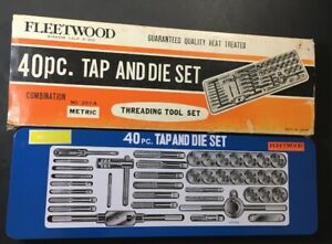 40 Piece Tap And Die Set Metric Fleetwood 201a Complete Vgc