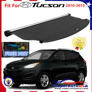 Fit For 2010 2015 Hyundai Tucson Trunk Black Oe Style Retractable Cargo Cover