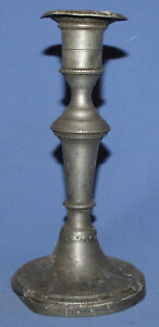 Antique Victorian Pewter Candlestick