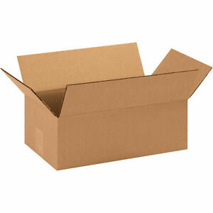 14x8x5 Cardboard Corrugated Boxes 200 Lb Test ect 32 Kraft Lot Of 25