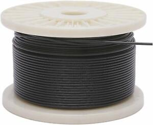Vinyl Coated Stainless Steel 304 Cable Wire Rope 7x7 Black 3 64 1 16