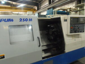 Daewoo 250m Cnc Lathe Live Tooling Tailstock 10 Chuck Chip Conveyor Video
