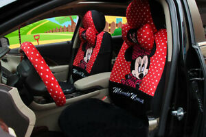 New Red Black Cartoon Mickey Mouse Car Seat Cover Seat Covers Car covers 1 Sets