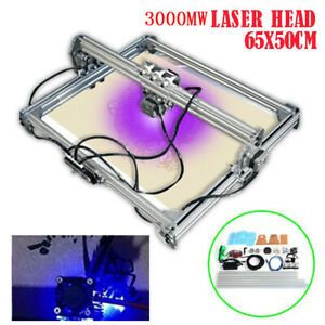 3000mw Diy Laser Cutting Printer Engraving Engraver Machine Desktop 50x65cm