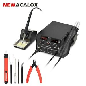Newacalox 886d Eu us 750w Digital 2 In 1 Soldering Rework Station Heat Gun Blow
