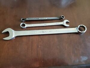 Snap On Blue Point Mac 3 8 7 16 5 8 1 Mixed Wrench Lot Of 3