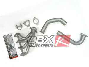 Obx High Temp Silver Paint Exhaust Header Manifold 96 01 Chevy S10 2 2l 2wd