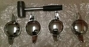 2 Bar Spinners Chrome Knock Offs K off Wire Wheel With Lead Hammer Koff