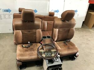 04 08 Ford F150 King Ranch Front Leather Bucket Seats W Rears And Console