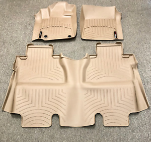New For 14 18 Toyota Tundra Crewmax Floor Liner Rubber Mats Pads Kit Weathertech