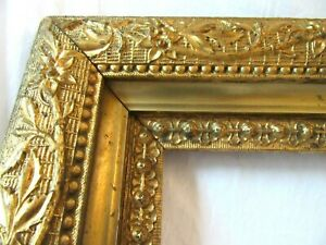 Antique Fits 8x10 Gold Picture Frame Wood Gesso Deep Ornate Fine Art Victorian