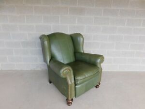 Motioncraft Sherrill Leather Wing Back Reclining Arm Chair