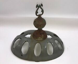 Antique Finial Enameled Cast Iron Wood Stove Parlor Top Pot Belly