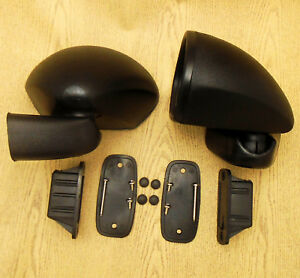 For Ford Escort Mk1 Mk2 Rs2000 Corcel Pair Door Mirror Lh Rh Black Retro Rally