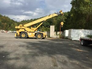 Grove Rt745 45 Ton Cummins Powered Rough Terrain Crane W 35 492 Hrs New 1986