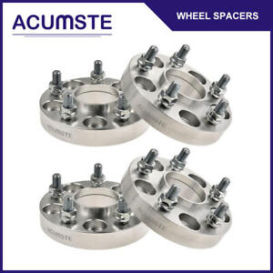 4pcs 25mm 1 inch Hubcentric Wheel Spacers 5x114 3 64 1mm For Honda Acura 12x1 5