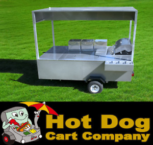 Hot Dog Cart Vending Concession Trailer Stand New Professional Hot Dog Cart
