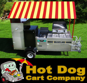Hot Dog Cart Vending Concession Trailer Stand New Limo Fully Loaded Hot Dog Cart