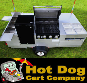 Hot Dog Cart Vending Concession Trailer Stand New California Grill Hot Dog Cart