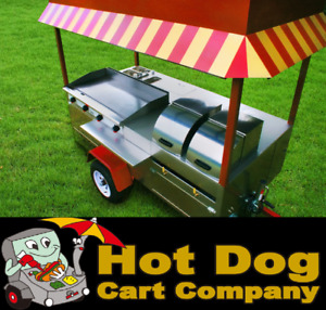 Hot Dog Cart Vending Concession Trailer Stand New Grand Master Griddle Cart