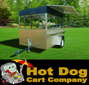 Enclosed Hot Dog Cart Vending Concession Trailer Stand New Enterprise Cart
