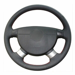 Leather Steering Wheel Hand Stitch On Wrap Cover For Buick Excelle Chevy Aveo
